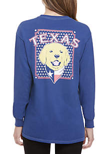 Texas Dog Long Sleeve Graphic Tee