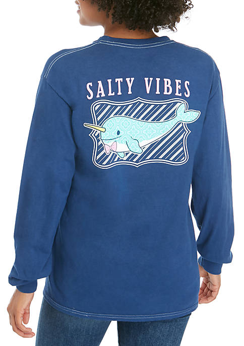 Benny & Belle Long Sleeve Salty Vibes Narwhals