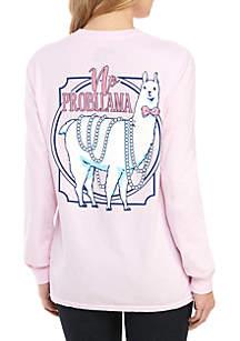 ba09dc5f39d TRUE CRAFT Short Sleeve V-Neck Shirt · Benny   Belle Long Sleeve No  Probllama Llama Graphic Tee