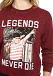 Juniors Long Sleeve Washed Skimmer Sandlot Graphic T-Shirt