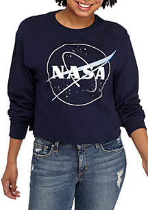 Long Sleeve NASA Crop Graphic Tee