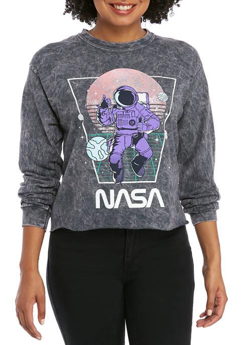 Cold Crush Juniors Long Sleeve Washed NASA Skimmer