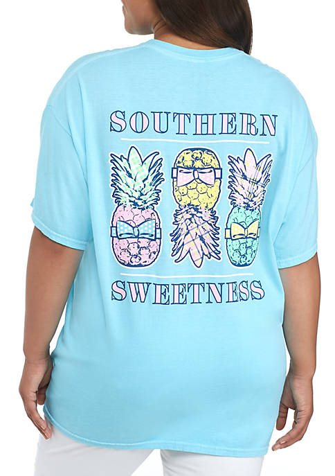 Benny & Belle Plus Size Sweetness Pineapple Tee