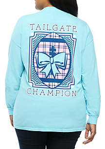 Plus Size Long Sleeve Tailgate Champion Tee