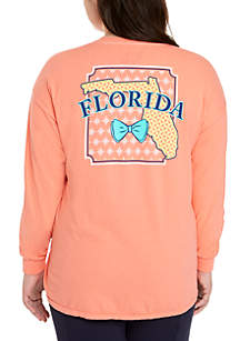 Plus Size Florida State Long Sleeve Tee
