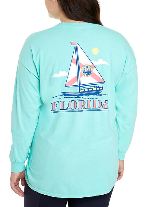 Benny & Belle Plus Size Florida State Sailboat