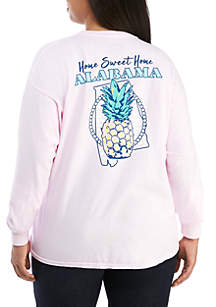 Plus Size Alabama State Pineapple Top
