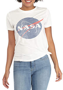 NASA Distressed Tie Front Tee