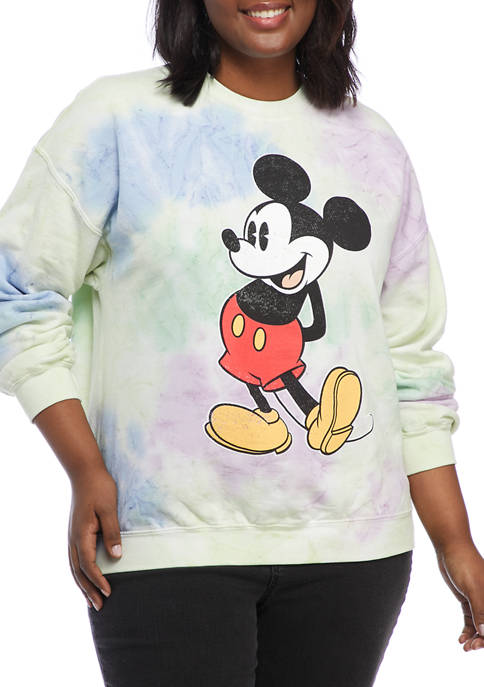 Disney® Plus Size Mickey Mouse Graphic Fleece Pullover