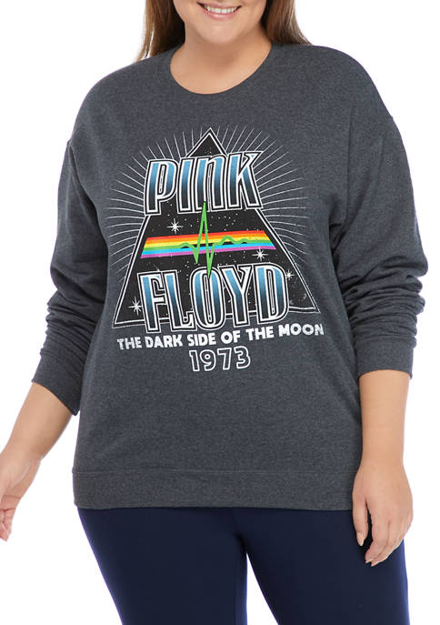 Pink Floyd Plus Size Drop Shoulder Fleece Graphic