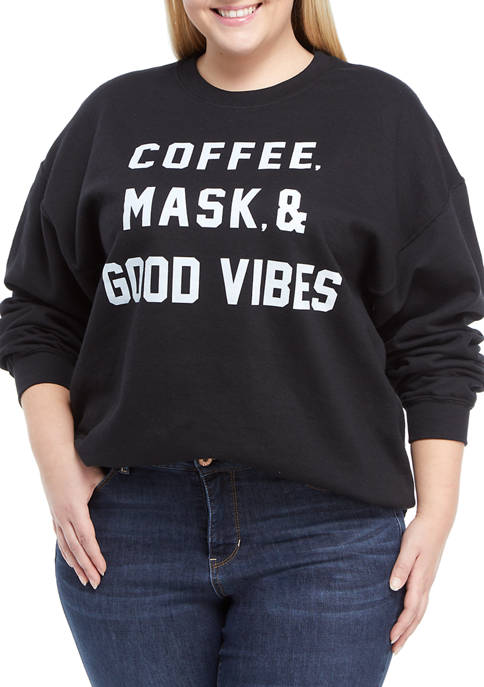 Cold Crush Plus Size Coffee and Mask Vibes