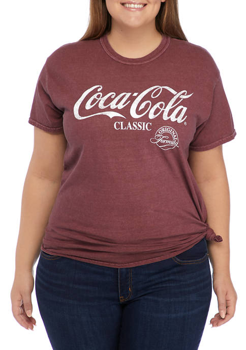 ACDC Plus Size Short Sleeve Side Tie Graphic
