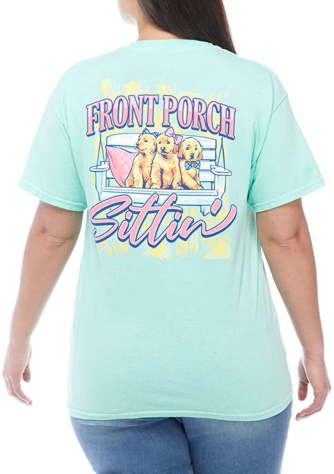 ACDC Plus Size Front Porch Sittin Graphic T-Shirt