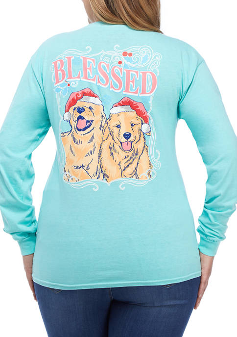 Benny & Belle Plus Size Long Sleeve Blessed