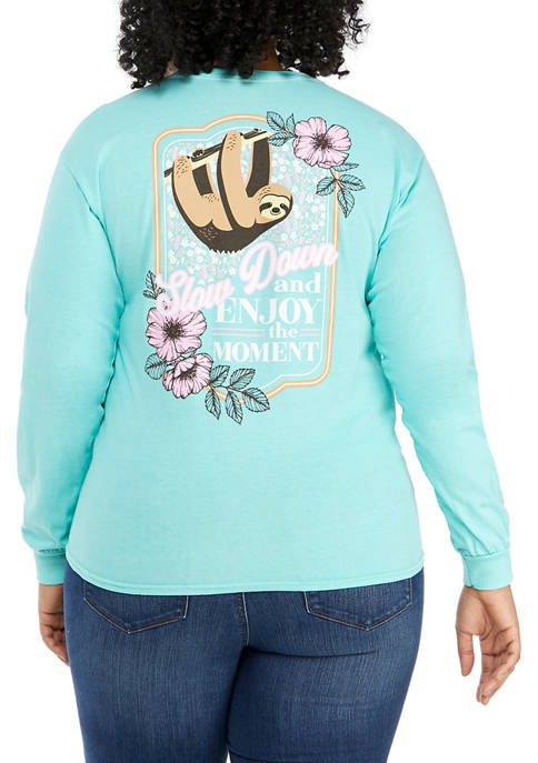 Plus Size Long Sleeve Graphic T-Shirt