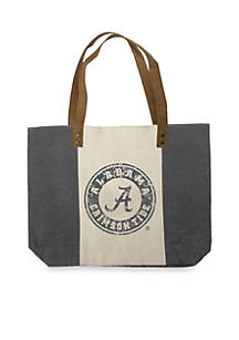 Carolina Sewn Bag And Leather Co University Of Alabama Crimson Tide Washed Canvas Tote