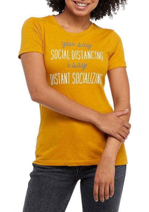 Short Sleeve Distant Socializing T-Shirt
