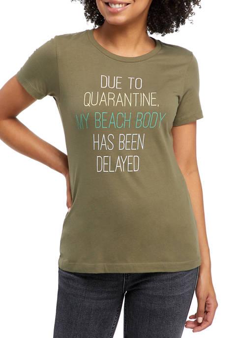 Juniors Short Sleeve Beach Body T-Shirt