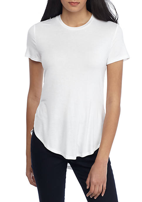 Madison Short Sleeve Tee with Side Slits