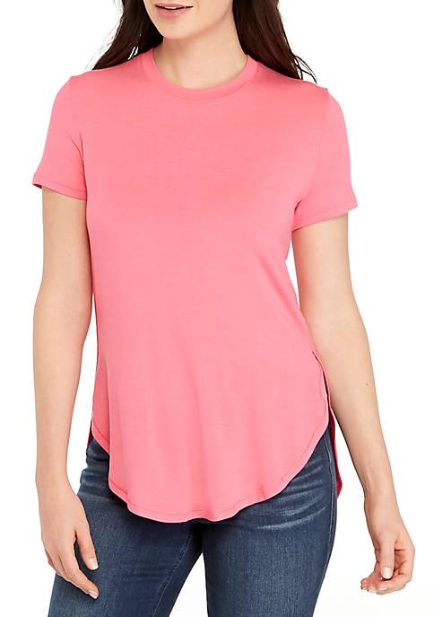 Madison Short Sleeve T Shirt with Side Slits