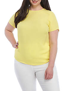 Plus Size Knit to Woven Tee