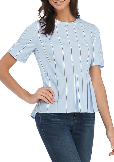 Madison Short Sleeve Peplum Blouse