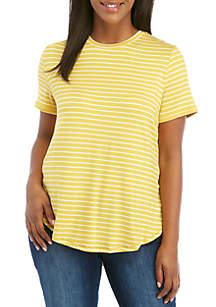 ... Top · Madison Plus Size Striped Basic Tee 3e5fda631b6f