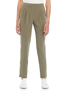 Pleated Ankle Pant