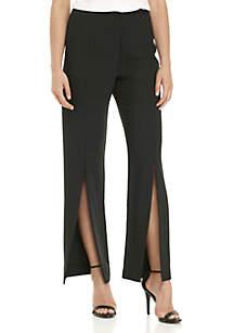 Slit Front Long Pants