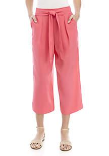 Madison Paper Bag Waist Pant Wide Leg Crop Pants