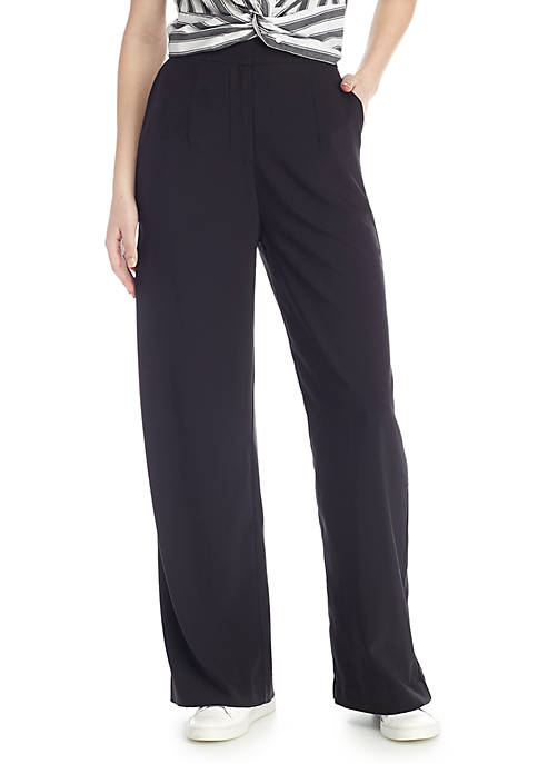 Madison Wide Leg Flat Front Pant