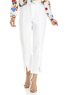 Notched Tapered Crop Pants