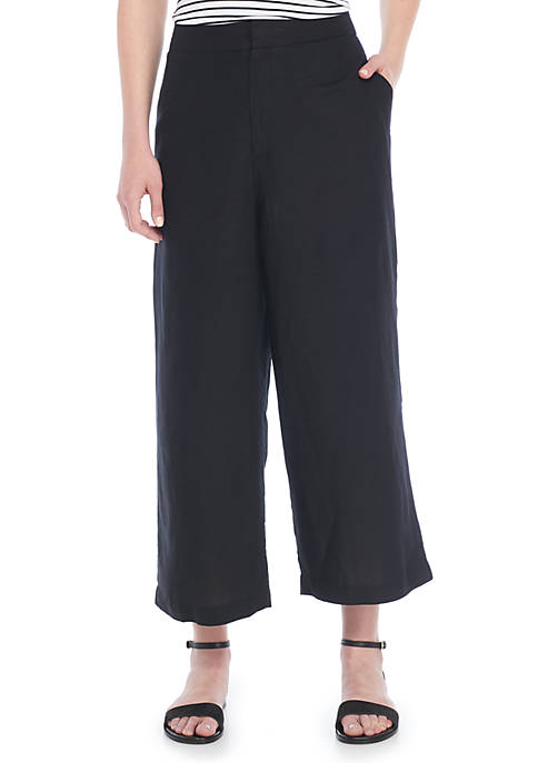 Madison High Waist Linen Pants