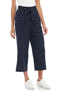 Polka Dot Crop Pants