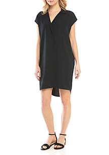 Madison Short Sleeve Notch Collar Dress