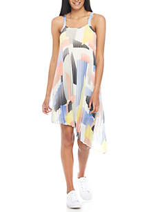 Geometric Pleated Dress