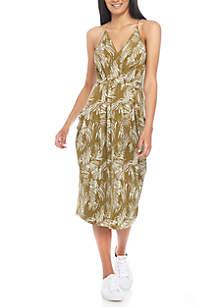 Palm Print Knit Dress
