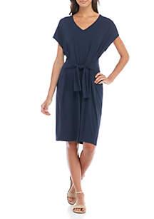 Knit Tie Front Dress