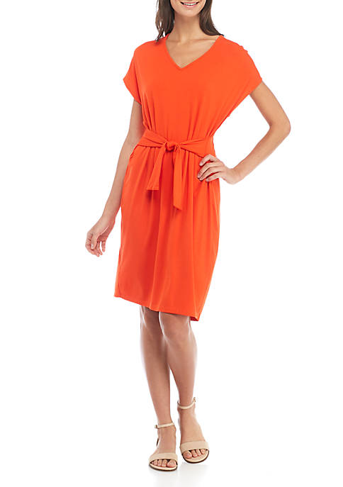 Madison Knit Tie Front Dress