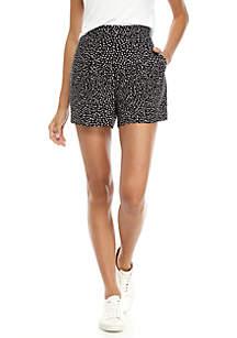 Dot Print Soft Shorts