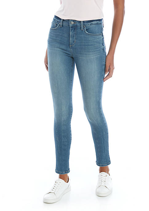 Womens High Rise Skinny Ankle Jeans