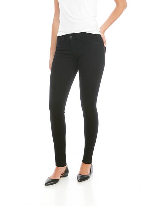 Petite Mid Rise Full Length Skinny Jeans