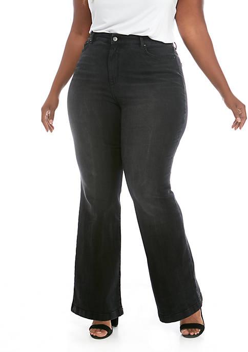 Plus Size Flare Leg Jeans
