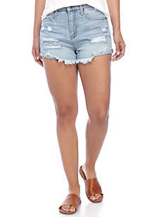 Destructed Mini Cuff Shorts