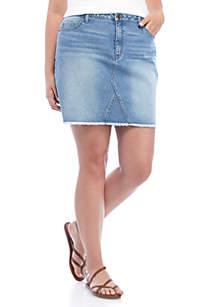 Wonderly Plus Size Denim Skirt