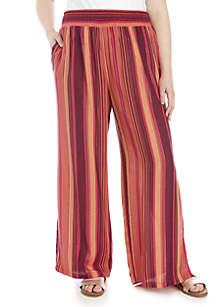 Wonderly Plus Size Stripe Pants