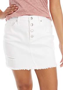 835c1611eb Fever Printed Maxi Skirt · Wonderly White Denim Skirt