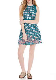 Sleeveless Curved Waist Dress