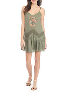 Wonderly Embroidered Tank Dress