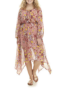 Plus Size Hanky Hem Wrap Dress